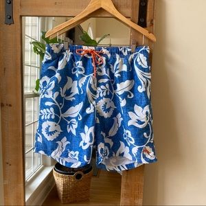 Tommy Bahama Hawaiian Print swim trunks